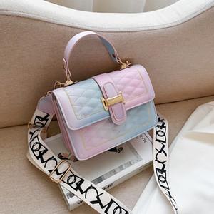 HBP Frauen Handtasche und Geldbörse Candy Farbe Leder Crossbody