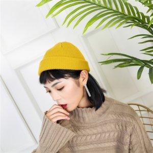 9ght coréen chaleur de melon de melon chaude et femme de hop hop hop de laine japonaise et coréenne couleur chapeau de chapeau de chapeau tricoté hachage