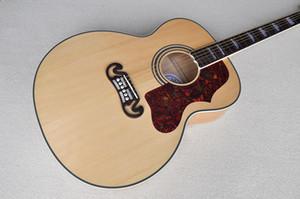 Chitarra acustica da 43 pollici di colore naturale della fabbrica con la cima di abete rosso massima, 6 corde, acero della fiamma posteriore e lato, può essere personalizzato