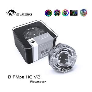 Bykski B-FMpa-HC-V2 Transparent Acrylic Hexagonal Flow meter Speed Monitor 12V 4Pin RGB 5V 3Pin ARGB For PC Water Cooling