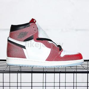 En iyi 2021 Yayın Kupa Odası 1 Basketbol Ayakkabıları 1 S Chicago Kırmızı İmza Ile Erkek Eğitmenler Kadın Spor Sneakers Boyutu 36-46Fast