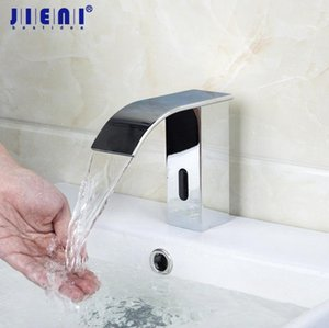 JIENI Bathroom Automatic Hands Touch Free Sensor Faucets Hot & Cold Basin Chrome Brass Sink Mixer Tap Faucets Mixers & Taps