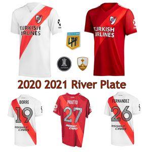 2020 2021 River Plaque Soccer Jersey Home Away 3ème 19 20 Pratto Fernandez Scocco Palacios Camacios Camacios Libertadores Chemises de football