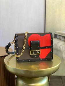 Jogo no Dauphine Mm Bag Nova Moda Mulheres Original Crossbody Bag Bolsa Bolsa Bolsa Bolsa Com Gigante Impressões Vibrantes Flores Suits de Cartões