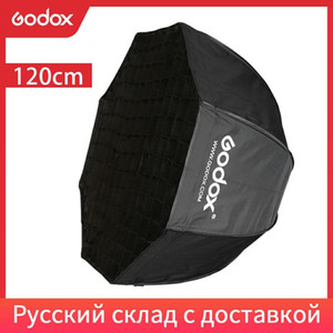 Godox Portable 120 cm 47in Octagon Umbrella Softbox con rejilla de panal Reflector Softcomb SoftBox para Flash Speedlight