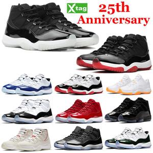 11S 11 25º aniversário tênis de basquete Jumpman Concord criados Space Jam baixo Citrus branco concord gama azul Heiress Preto sapatilha