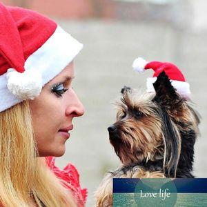 Pet Christmas Hat Inter Warm Pet Cat Dog Santa Claus Hat Christmas Xmas New Year Plush Cap 20 X14 Cm Christmas Party Pet Decor