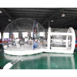 Kundenspezifische Machen Sie aufblasbare Schneekugel-Bubble-Ball zum Verkauf, klare aufblasbare Schneekugel mit Tunnel für Weihnachten Z1123