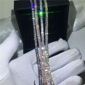 4 Colors Lovers Tennis bracelet Diamond White Gold Filled Party Engagement bracelets for women wedding accessaries