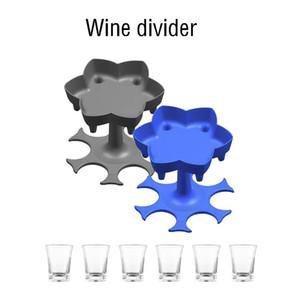 Boisson créative Wine Outils de vin 6 Shot Glass Distributeur Distributeur de vin Diviseur de vin Distributeur de bière Liqueur Distributeur Distributeur Dining Bar Boisson-Ware T9I00892