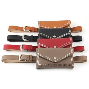 NO.ONEPAUL Genuine Leather Belts For Pin Studded bag Waistband Adjust Casual Women belt Fashion Female 201120