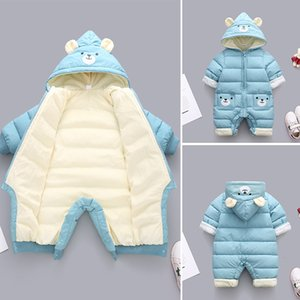 Snowsuit Baby Romper Winter Wool Baby Girls Clothes Hooded Newborn Jumpsuit For Boys Unisex Baby Clothes Overalls 0 3 9 24 Month Z1121