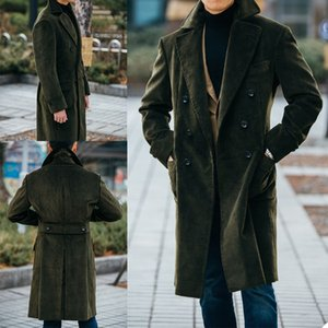 Winter Warm Corduroy Men's Coat Custom Made Double Breasted Wedding Tailored Blazer Jacket Only One Piece