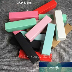 100pcs lot Colorful Lipstick Tube Packing Box, DIY Beauty Makeup Tools Lip Balm Container, Refillable Cosmetic Package Case