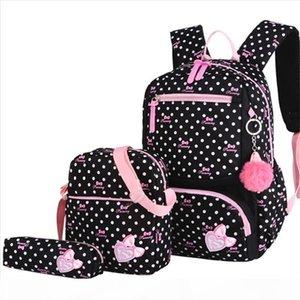 3pcs set Printing School Bags Backpack Schoolbag Grades 1 3 5 Cute Kids Bag School Backpack Big Capacity Travel Bag Mochila