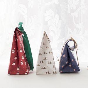 Noel Hediye Ambalaj Kağıt Torba Noel Parti Çerezler Mevcut Hediye Çantası Noel Partisi Süslemeleri Malzemeleri DHF3534