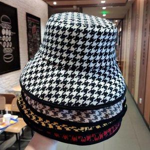 Bucket Hats Женская осень и зимняя корейская ретро классическая насадка полосатая большая большая шляпа девочек хлопок теплый рыбак шляпа бассейна