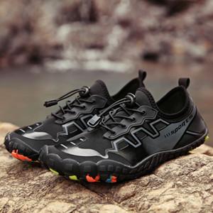 Летняя водяная обувь Мужские пляжные сандалии вверх по течению Aqua Shoes Wome Быстрая сухие речные тапочки дайвинг плавательные носки Tenis Masculino Y200420