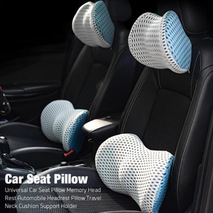 Car Seat Pillow Universal Memory Head Rest Automobile Waist Pillow Travel Neck Cushion Support Holder For Auto Neck