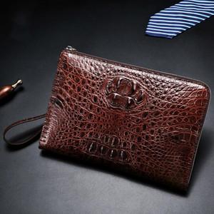 crocodile leather clutch bag brown brand Wallet fashion men's gift handbag luxury European style designer High-quality purses