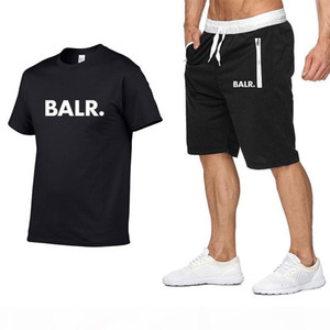 Brand Mens tracksuit T Shirt +Shorts Set Summer Short Sleeve Tracksuit Gyms Casual Male T Shirt 2 Piece Brand Clothing Size S-2XL