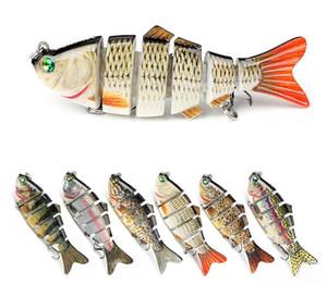 Swimbaits Iteyial Bait Bas Bass Рыболовные приманки 6 Разделы Соединенные Swimbait Рыболовные Снасти Медленные тонущие Приманки Приманки