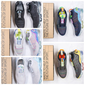 2021 FK Puro Flyase Lock Reglown Hombres Mujeres Running Shoes Space Waste Yarn Trainer Fashion Deportes Sports Sneakers CQ3989 001 Tamaño 36-45