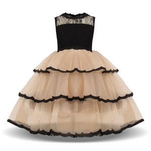 Summer Kids Dresses for Girls Princess Party Tutu Costume Lace Children Wedding Bridesmaid Evening Dresses Vestido Infantil