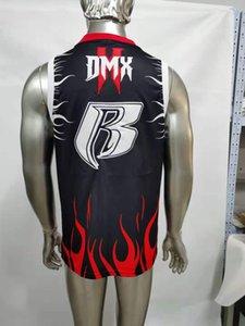 Suco wrld # 999 lírico lemonad filme bordado dmx jerseys escuro homem x esporte basquete usa hiphop street shirts suor tops