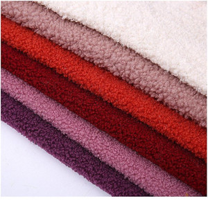 50*160cm Artificial Teddy Velvet Plush Fabric Solid Color Polyester Flannel For Clothing Shoes Hats qylXoD