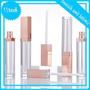 Empty Lipgloss Tube DIY Lip Gloss Mask Cream Containers Rose Gold Refillable Bottles Packing 20pcs lot