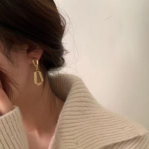Korea's retro metal earrings female irregular exaggeration geometric Drop earrings
