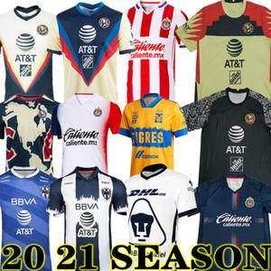 Nouveau 20 21 Club America Soccer Jerseys 2020 2021 Xolos de Tijuana Tigres Unam Guadalajara Chivas Cruz Azul Jersey Shirts Football Jersey