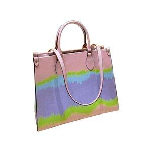 Оптовые облачные радуги контрастные цветные сумки классические сумки для покупок на плечо мешок пляжные сумки натуральная кожа по кровату кошельщик