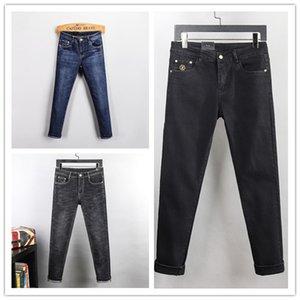Nouvelle Arrivée Slim Jambes Jeans Casual Casual Hommes Pantalons Slim Haute Qualité High Street Biker Denim Luxurys Fashion Mens Jeans Designer Jean