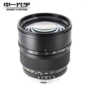 Другие камеры видеонаблюдения Zhongyi Lens SpeedMaster 85 мм F / 1.2 для Sony E Canon EF Nikon F FUJI GFX XF монтажная камера Code A7R3 A7R4 5D3 5D4 Full Fram