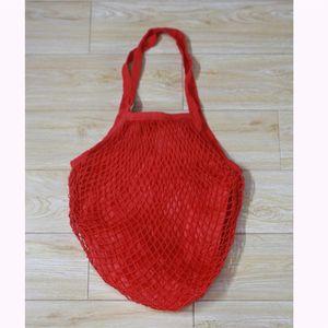 Shopping Bags Handbags Shopper Tote Mesh Net Woven Cotton Bags String Reusable Fruit Storage Bags Handbag Reusable Home Storage 7 J2