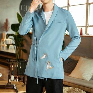 Stil Große Größe Guochao Impd Hanfu Gestickter Windjacke Chinesische Business Herren Tragen Koreanische Version Kleinanzug