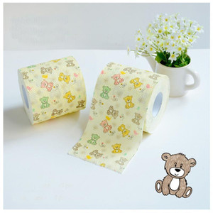 Disposable Tissues 3 layers Paper Lovely Bear Theme Roll Papers Novelty Toilet Tissue Party Gift 24m 10PCS