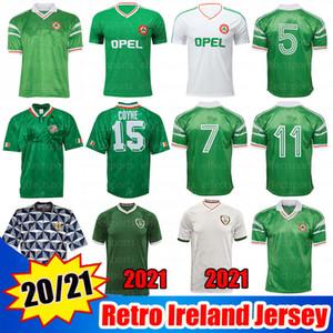 2020 2021 Ireland Formaları Retro İrlanda 1990 1992 1994 1988 Futbol Formaları 90 93 94 klasik eski İrlandalı STAUNTON HOUGHTON futbol formaları