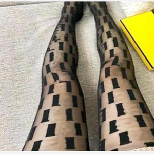 Sexy Mesh Pantyhose pour Femmes Mode Lettre Full Letter Slim Jolie Black Thin Collant Nuit Club Party Bas élastiques
