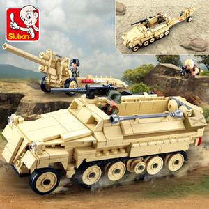 Sluban Compatible Military Tank World World World World Army Troupes Bâtiment Blocs de construction Brique Hélicoptère Modèle Jouets LJ200930