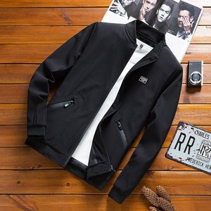 New autumn and winter college men's bomber jacket business casual jacket men's baseball collar high-quality sports cardigan jacket M-8XL