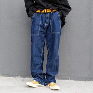 Japanese Style Vintage Pantalon Homme Streetwear Hip Hop Oversize Denim Jeans Pants Harajuku Wide Leg Jeans For Men Baggy