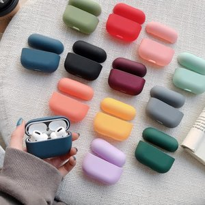 Original Case For Apple Airpods Pro Wireless Bluetooth Earphone Case Candy Color Box For AirPods Pro Air Pods 3 Hard Cute Cover