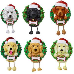DHL 2020 جميل الكلاب diy اسم رسالة قلادة عيد الميلاد الحلي pvc كلب قلادة جديد شجرة عيد الميلاد قلادة زخرفة 2021