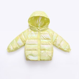 Winter new colorful fashion children's baby wash free bright face hooded down jacket short style lively bright color winter coat
