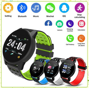119 plus 119plus Smart Watch wristband Blood Pressure Round Bluetooth Smartwatch Waterproof Sports Tracker for Android Ios MQ60