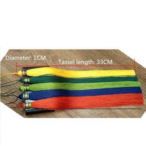 2 unids 33cm Muy largo trenzado borla de bricolaje Joyas de bricolaje Hogar textil cortina prenda decorativa fabricación de encantos colgantes tassels de artesanía h bbyftq