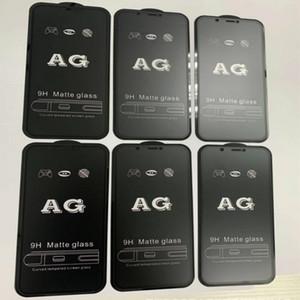 Vetro protettore temperato opaco 9H AG per iPhone 12 Mini 11 Pro XS Max XR x 7 8 6 6S Plus SE Full Coverage Screen Film